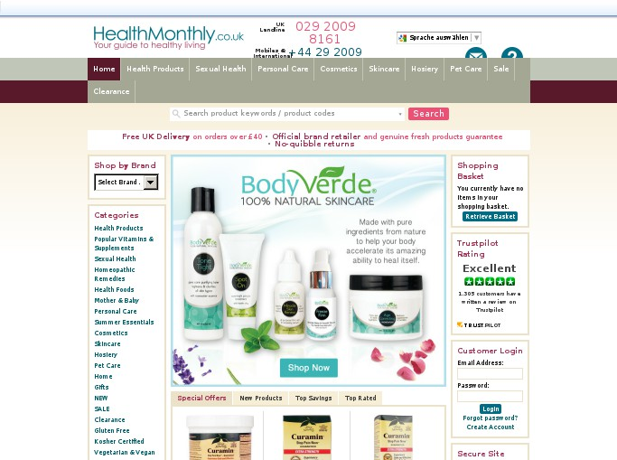Screenshot of the shop